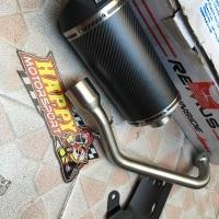 Knalpot fullsystem Remus ori Austria Carbon matt oval Yamaha Nmax 150