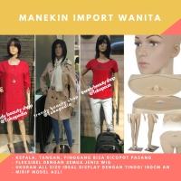 Manekin Original Full Body Wanita Import (Bisa pakai sepatu)