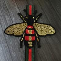 Patch Gucci Bee strip / bordir gucci / tempelan baju