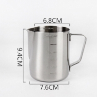 Milk jug pitcher dengan garis 350ml measurement latte jug stainless st