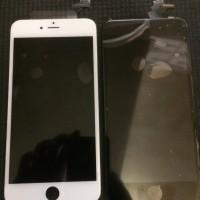 Lcd + touchscreen fullset iphone 6+, warna hitam dan putih.