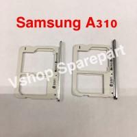 Simtray Sim Lock Tempat Simcard Samsung A310 A3 2016 Grey/Silver/Gold