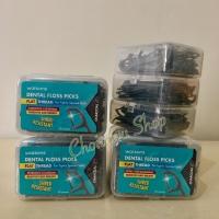 Dental Floss Picks Watsons Charcoal 3 pack @50pcs