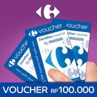 Voucher carrefour nominal Rp 100.000