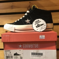 Converse One Star 74 Mid Black White