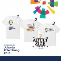 Jual Asian games 2018 Jakarta Palembang / kaos Asian Games 2018 size dewasa Murah