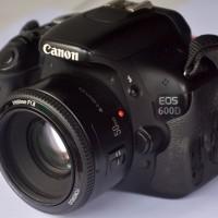 Kamera Dslr Canon 600D + lensa Fix