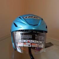 Helm Half Face INK CX22 Solid / Ice Blue / Biru Laut