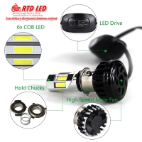 RTD Led Lampu Utama Headlamp LED RTD M02E 6 Sisi Original