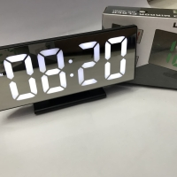 Jam Meja Digital Led Weker / Digital Alarm Clock Mirror DS-3618L White