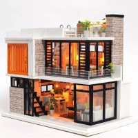 diy doll house wooden furniture (with lamp)
