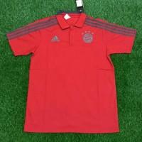 Jersey Kaos Baju Polo Bayern Munchen Munich Home Merah 2018 2019 GO
