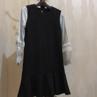 Dress mini com tgn putih preloved