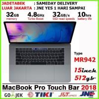 "Macbook Pro 15"" Retina Touchbar 2018 SSD 512GB / RAM 16GB Space Grey"