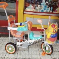 Sepeda Anak Roda Tiga Family Ubur2 Boncengan Orange