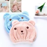 PANACHE Microfiber Quick Dry Cute Bear Hair Towel, Handuk Keramas
