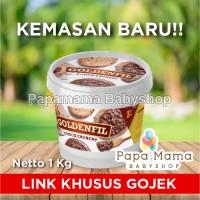GOLDENFIL CHOCO CRUNCHY CHOCOLATE 1KG SELAI COKLAT CRUNCHY GOJEK