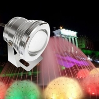 LAMPU KOLAM SPOTLIGHT LED 10 watt 12V DC RGB REMOTE CONTROL