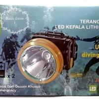 Senter Kepala Selam 30 Watt Sunpro S 8132 Headlamp Diving 30Watt