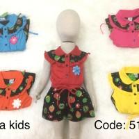 Baju bayi model jumpsuit ,untuk anak perempuan umur 1tahun