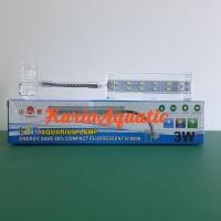 YAMANO LAMPU LED JEPIT 3W / 3 WATT Lampu Aquarium Aquascape 3watt