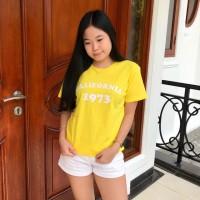 T-shirt / baju wanita / kaos cewek / tumblrtee /kaos california kuning
