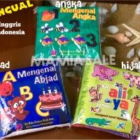Soft book buku bantal kain HIJAIYAH abjad huruf angka mainan bayi