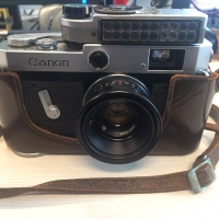Kamera Analog Canon P dan Lensa Jupiter 12 Biogon Copy Rare