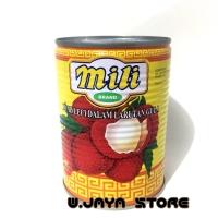 Mili Lychees in Syrup / Leci Kaleng Mili