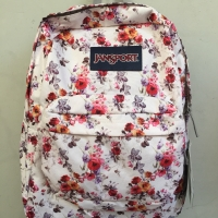 tas ransel jansport backpack superbreak floral memory bunga original