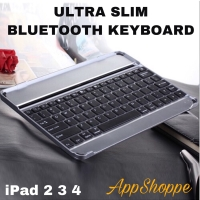 iPad 2/3/4 Wireless Bluetooth Keyboard 3.0 Interface Black/Silver