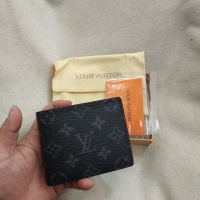 DOMPET PRIA LOUIS VUITTON MONOCROME BLACK ORIGINAL QUALITY