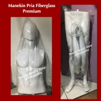Patung Manekin Pria Full Body Alien Fiberglass Glossy