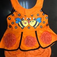 Pakaian stelan anak bayi perempuan untuk umur 0-1 tahun