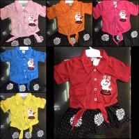 Baju stelan anak pakaian bayi baby untuk anak perempuan umur 0-1 tahun