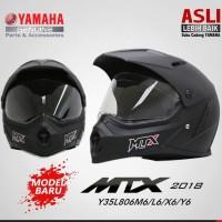 Harga helm full face mtx hitam no double visor asli original | antitipu.com