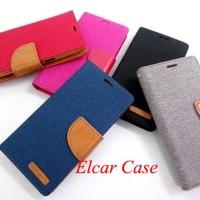 Flip case wallet flipcase canvas sarung hp dompet smartfren andromax b