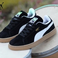 Sepatu Puma Suede All Black Kombinasi - Sneaker Pria