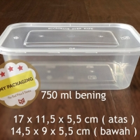 Food box / Container Microwave / Kotak Makan / Wadah plastik 750ml