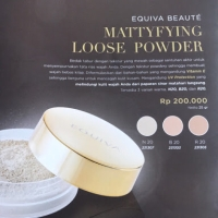 Equiva Beaute Mattyfying Loose Powder B20, bukan bedak maybeline/warda