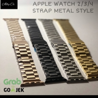 Apple Watch iWatch Stainless steel Strap 3 Link series 1 2 3 METAL