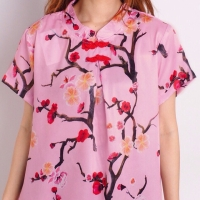 Selvy Cheongsam Top Baju Wanita Blouse Imlek Chinese Shirt 1573