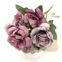 Mawar mekar buket ungu bunga artificial bunga shabbychic 08545a812c