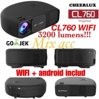 Proyektor Cheerlux CL760+ (Wifi +Android +TV) Projector ALL IN 1