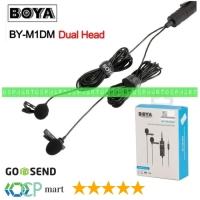 Mic BOYA BY-M1DM Dual Lavalier Universal Microphone Smartphone Vlog M1