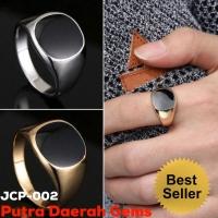 JCP-002 Cincin Pria Titanium Polish Gold & Silver