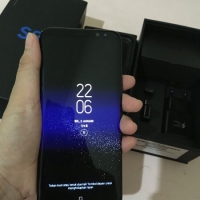 Samsung Galaxy S8 Plus 64GB Black Sein Resmi Indonesia Fullset Dual Si