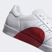 adidas superstar red heart