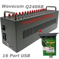 Modem Pool 16 Port USB NEW Q2406B