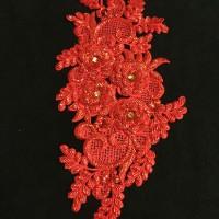 Hiasan Hijab Full Payet Red
